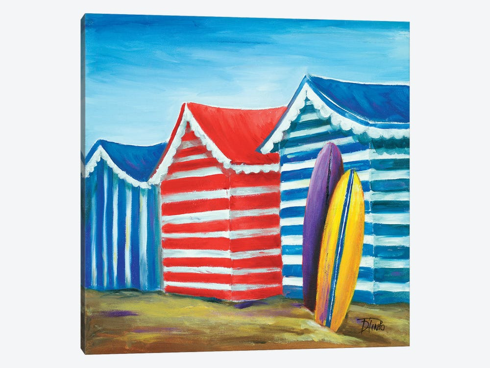Summer Beach Cabana I 1-piece Art Print