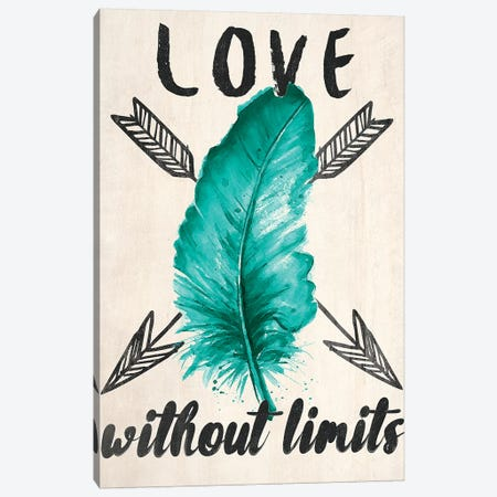 Teal Fearless Limits II Canvas Print #PPI295} by Patricia Pinto Canvas Artwork