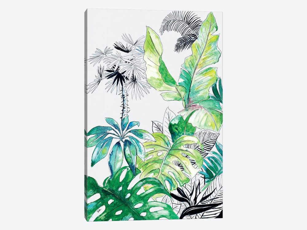 Teal Palm Selva I by Patricia Pinto 1-piece Canvas Art Print