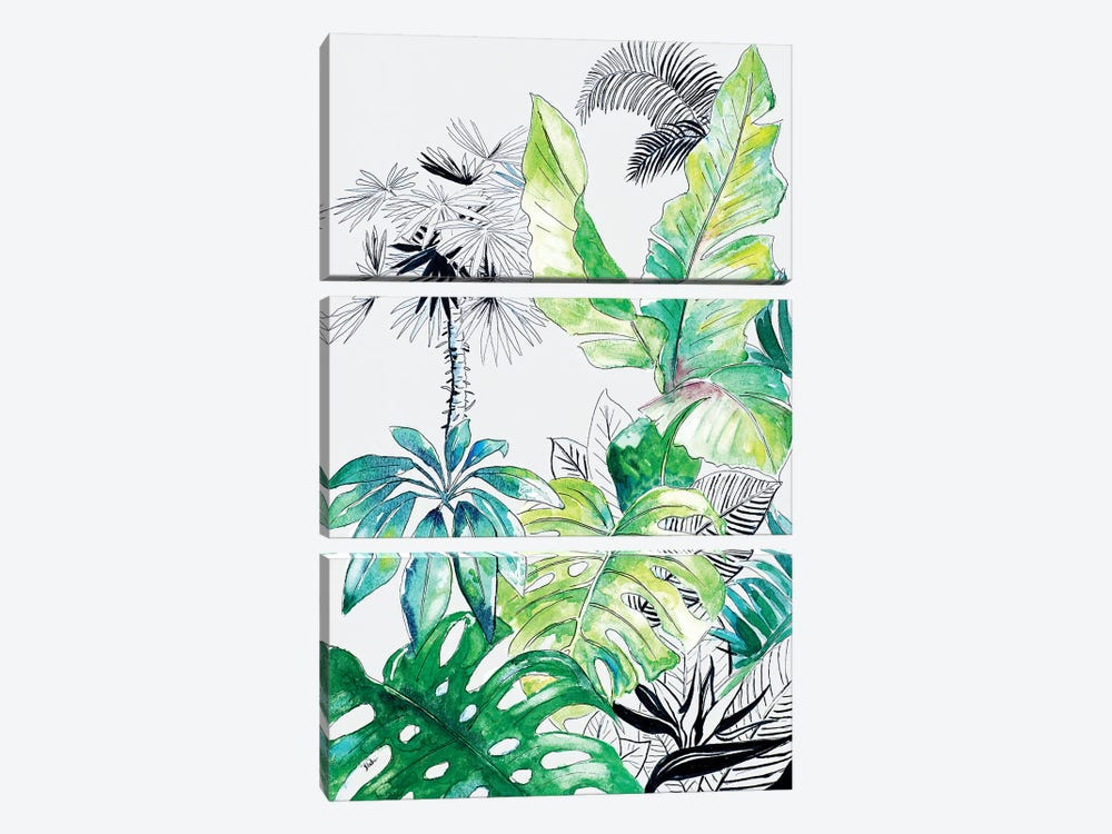 Teal Palm Selva I by Patricia Pinto 3-piece Art Print
