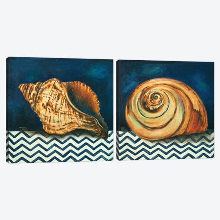 Elegance of the Sea Diptych Canvas Print Set #PPI2HSET003} by Patricia Pinto Canvas Art Print