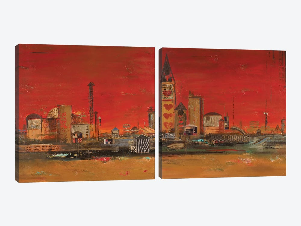 Crazy City Diptych by Patricia Pinto 2-piece Canvas Art