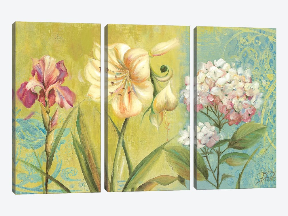 The Garden I by Patricia Pinto 3-piece Canvas Art