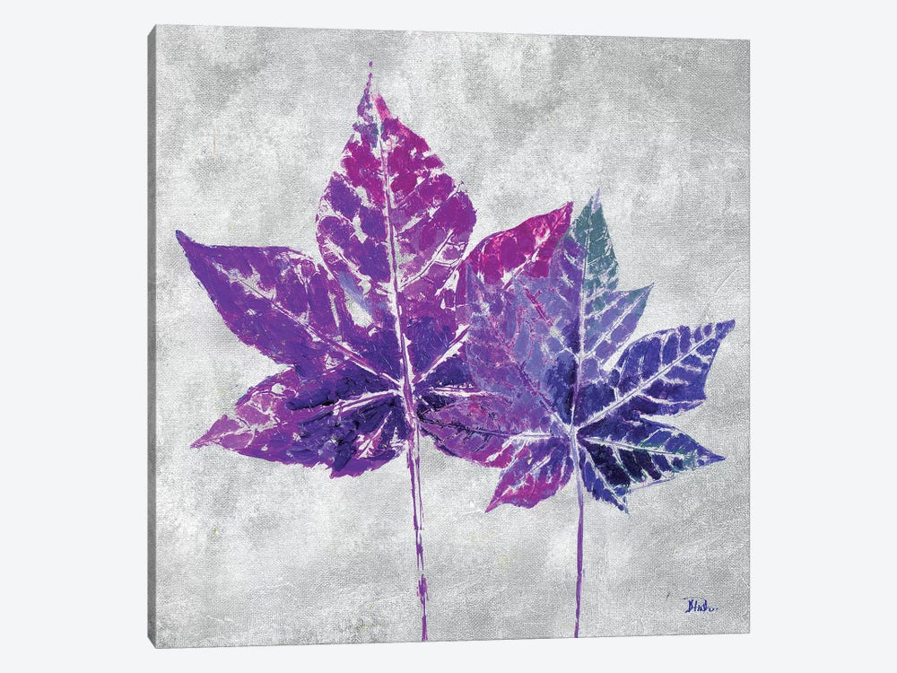 The Purple Leaves on Silver I by Patricia Pinto 1-piece Canvas Art