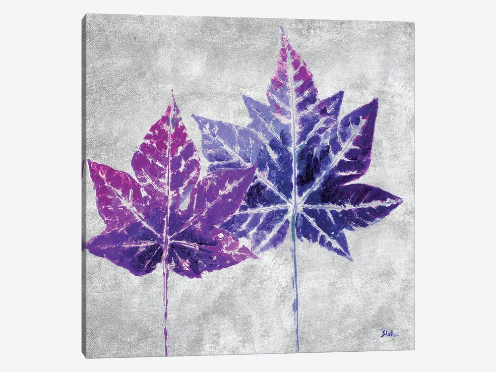 The Purple Leaves on Silver II by Patricia Pinto 1-piece Canvas Art Print