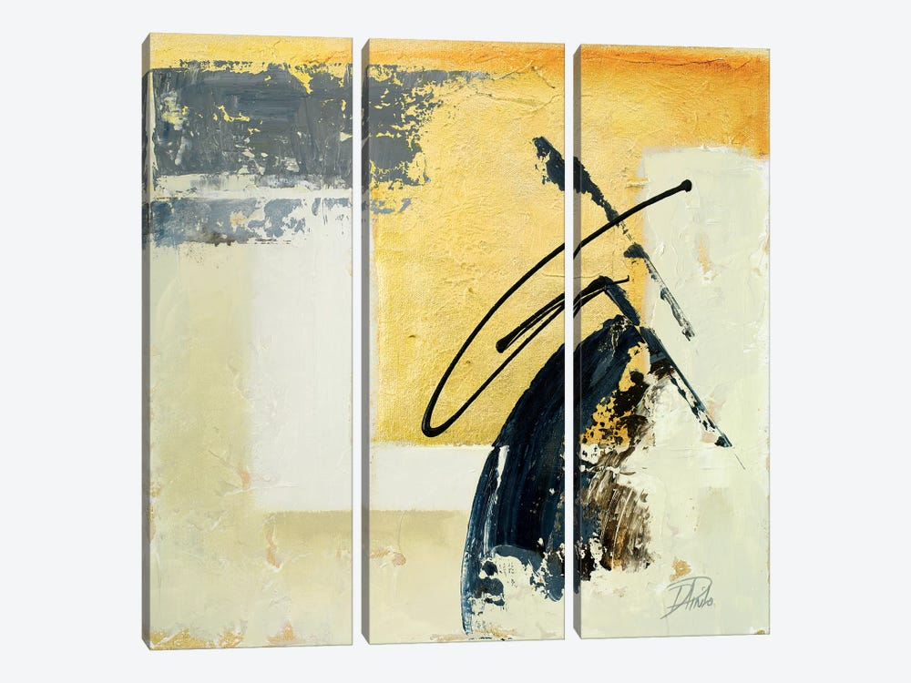 The Sign of Gold I by Patricia Pinto 3-piece Canvas Artwork