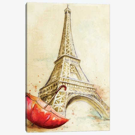 Tour Eiffel Canvas Print #PPI317} by Patricia Pinto Canvas Print