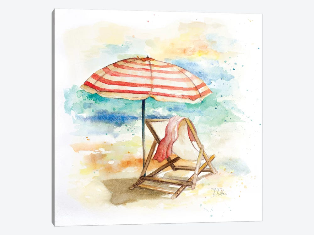 Umbrella on the Beach II by Patricia Pinto 1-piece Art Print