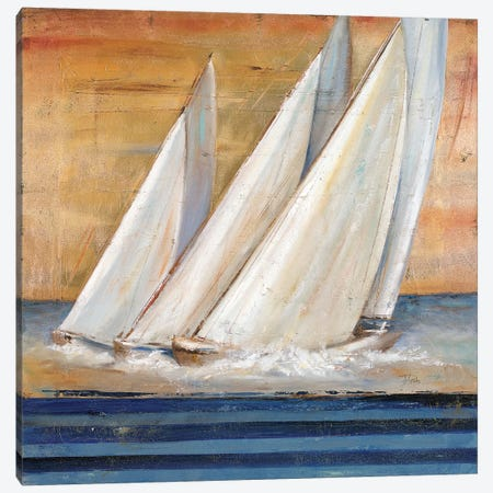 Veleros II 3-Piece Canvas #PPI324} by Patricia Pinto Canvas Art