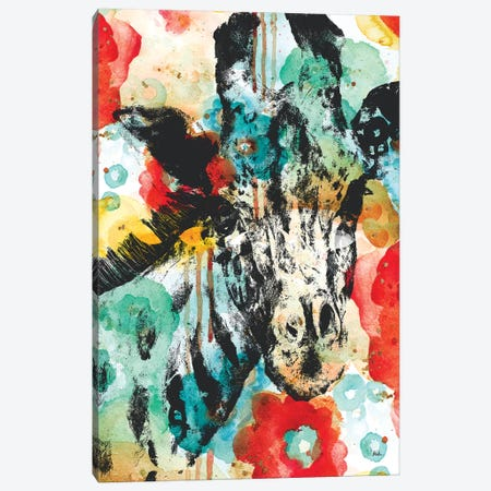 Vibrant Giraffe Canvas Print #PPI325} by Patricia Pinto Canvas Wall Art