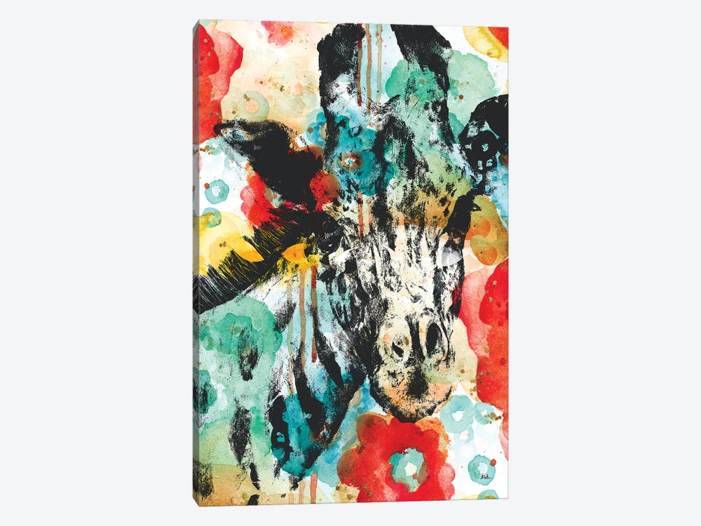Vibrant Giraffe by Patricia Pinto 1-piece Canvas Artwork