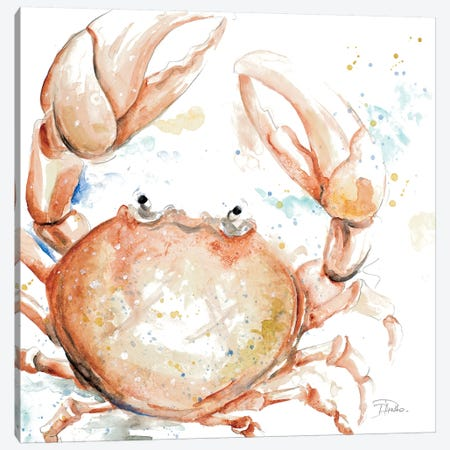 Water Crab Canvas Print #PPI328} by Patricia Pinto Canvas Art Print