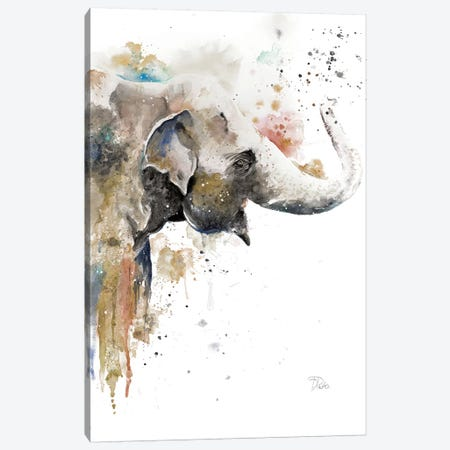 Water Elephant Canvas Print #PPI329} by Patricia Pinto Canvas Print