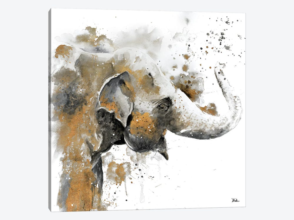 Water Elephant with Gold by Patricia Pinto 1-piece Canvas Art Print