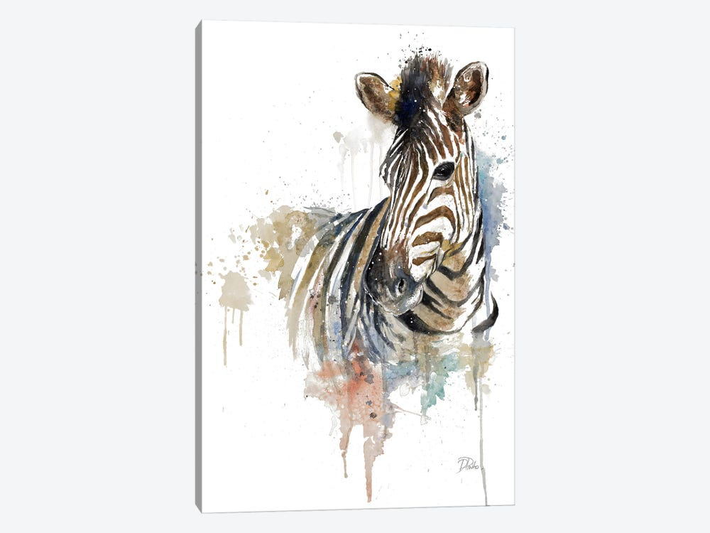 Water Zebra 1-piece Canvas Print