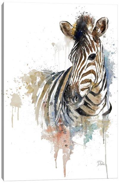 Water Zebra Canvas Art Print