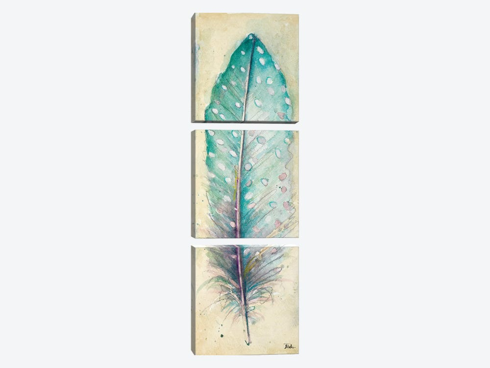 Watercolor Feather I by Patricia Pinto 3-piece Canvas Artwork