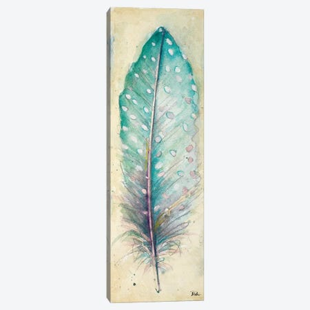 Watercolor Feather I Canvas Print #PPI336} by Patricia Pinto Art Print