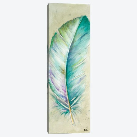 Watercolor Feather II Canvas Print #PPI337} by Patricia Pinto Art Print