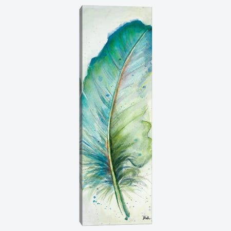 Watercolor Feather IV Canvas Print #PPI339} by Patricia Pinto Canvas Wall Art