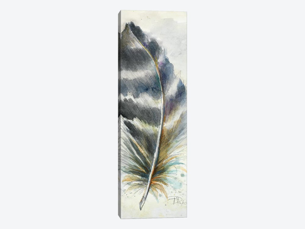 Watercolor Feather VI by Patricia Pinto 1-piece Canvas Print