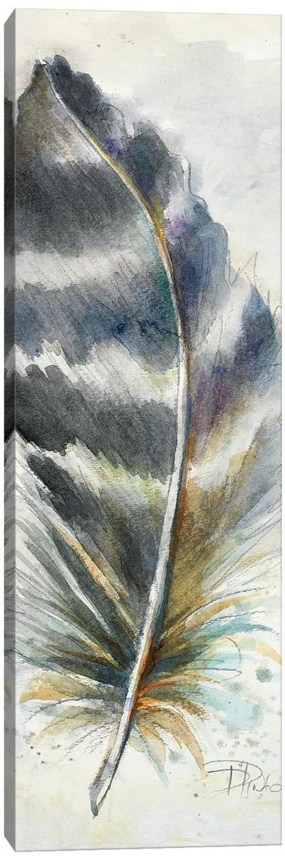 Watercolor Feather VI Canvas Art Print