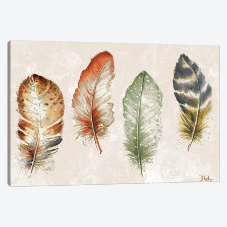 Watercolor Feathers Canvas Print #PPI341} by Patricia Pinto Canvas Art Print