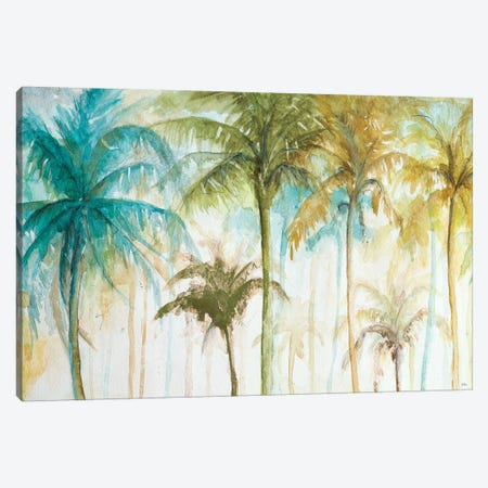 Watercolor Palms Canvas Print #PPI344} by Patricia Pinto Canvas Art
