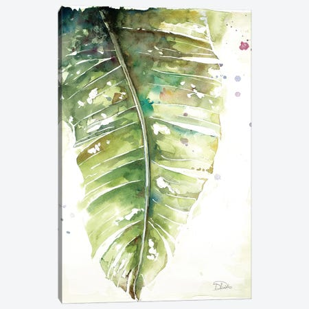 Watercolor Plantain Leaves I Canvas Print #PPI345} by Patricia Pinto Canvas Art