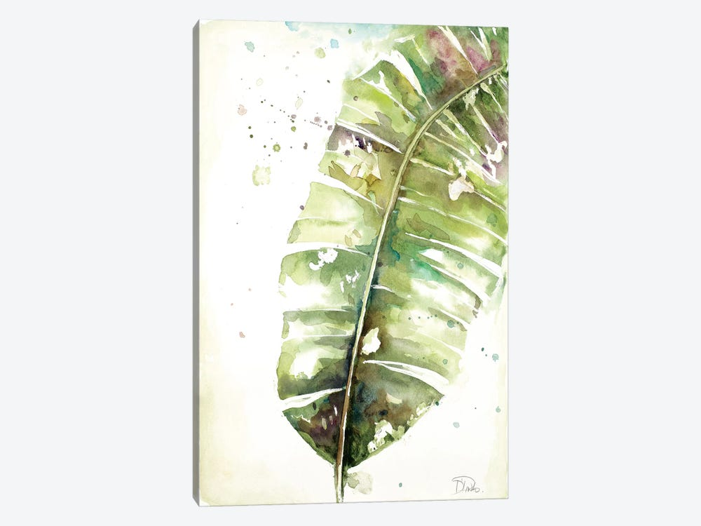 Watercolor Plantain Leaves II by Patricia Pinto 1-piece Canvas Print