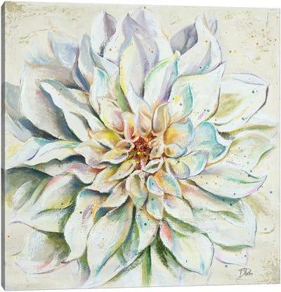 White Dahlias II Canvas Art Print