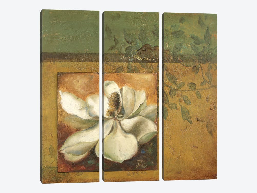 White Nature I 3-piece Canvas Print