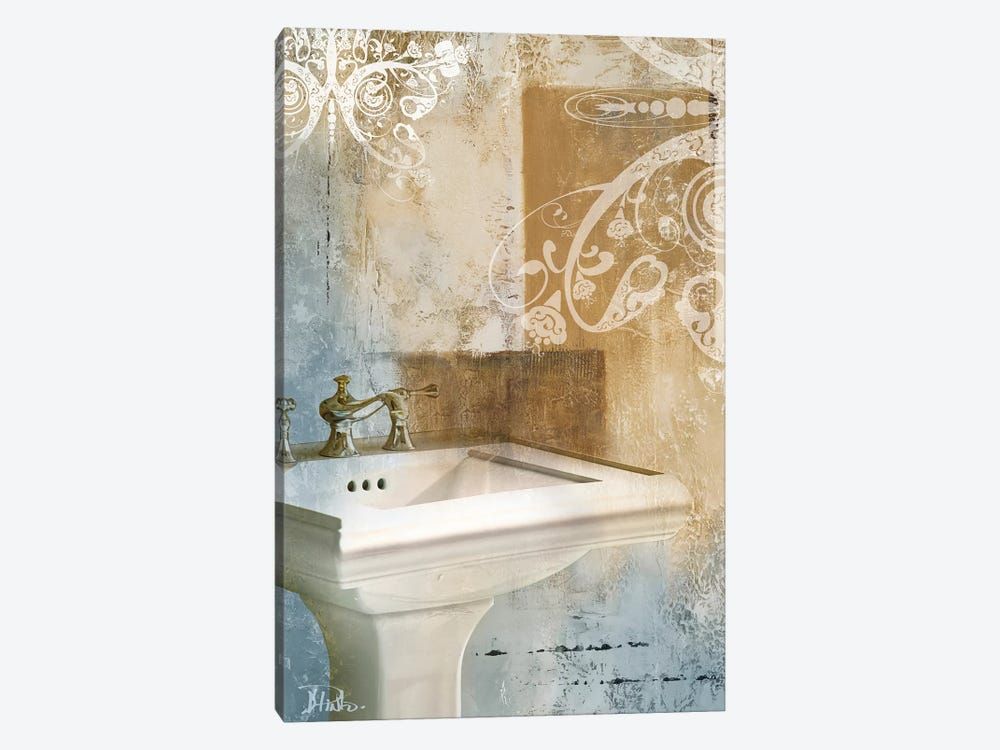 Bathroom & Ornaments II 1-piece Canvas Artwork