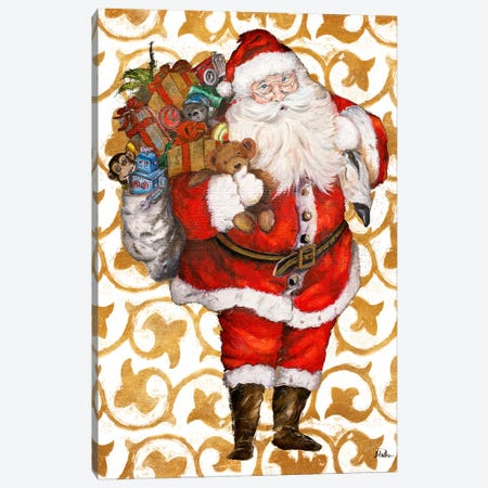 Golden Santa Canvas Print #PPI361} by Patricia Pinto Canvas Print