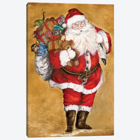 Jolly Night on Gold Canvas Print #PPI364} by Patricia Pinto Canvas Artwork