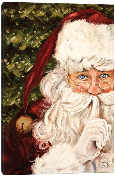 Secret Santa Canvas Art Print
