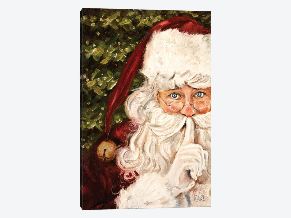 Secret Santa by Patricia Pinto 1-piece Canvas Artwork