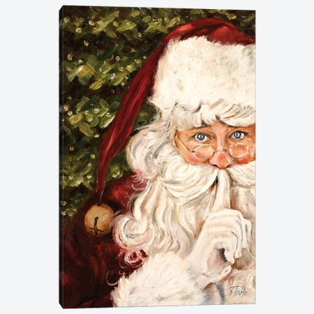 Secret Santa Canvas Print #PPI365} by Patricia Pinto Canvas Wall Art