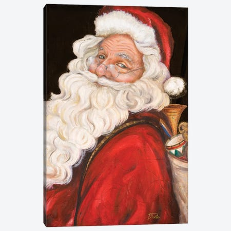 Smiling Santa Canvas Print #PPI366} by Patricia Pinto Canvas Artwork