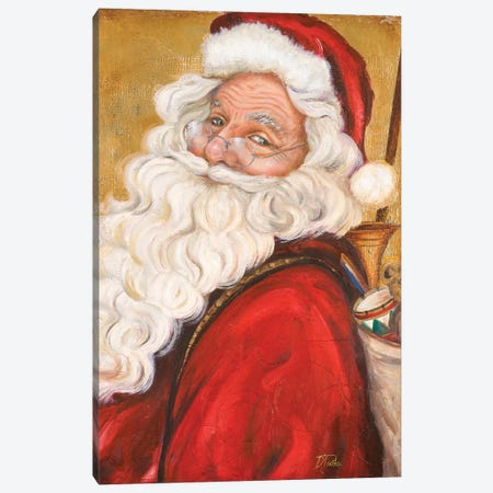 Smiling Santa Canvas Print #PPI367} by Patricia Pinto Canvas Artwork