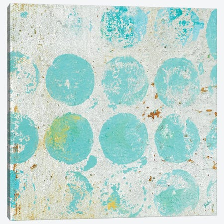 Aqua Circles I Canvas Print #PPI374} by Patricia Pinto Canvas Print