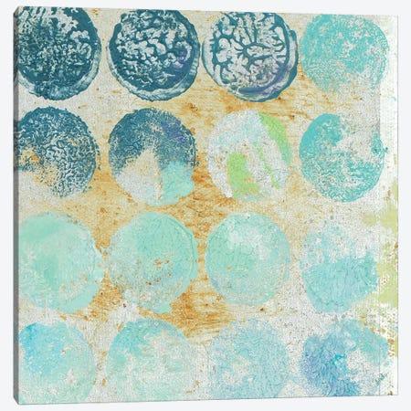 Aqua Circles II Canvas Print #PPI375} by Patricia Pinto Art Print