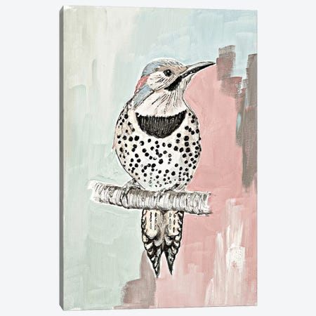 Beige Woodpecker I Canvas Print #PPI386} by Patricia Pinto Canvas Wall Art