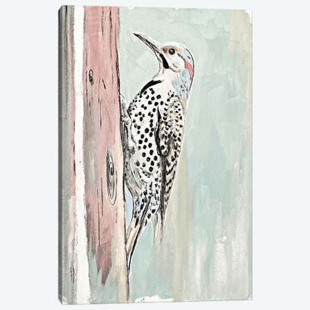 Beige Woodpecker II Canvas Print #PPI387} by Patricia Pinto Canvas Artwork