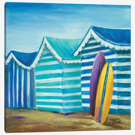 Beach Cabana I Canvas Print #PPI38} by Patricia Pinto Canvas Artwork
