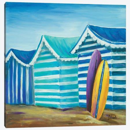 Beach Cabana I Canvas Print #PPI38} by Patricia Pinto Canvas Artwork