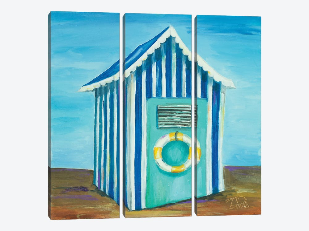 Beach Cabana II by Patricia Pinto 3-piece Canvas Artwork