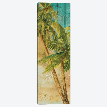 Beach Palm Panel I Canvas Print #PPI40} by Patricia Pinto Canvas Art Print