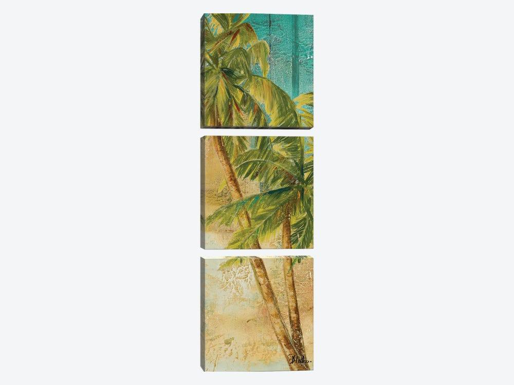 Beach Palm Panel I by Patricia Pinto 3-piece Canvas Artwork