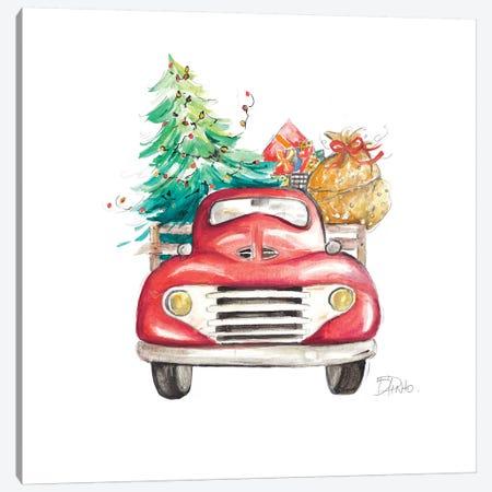 Christmas Tree Haul II Canvas Print #PPI416} by Patricia Pinto Canvas Art